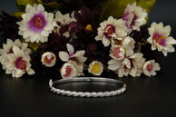 2 Carats Halo Bangle Bracelet for Women in Sterling Silver
