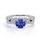 Artdeco 1.5 Carat Round Cut Sapphire and Diamond Wedding Ring Set in 10k White Gold