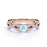 1.50 Carat Round Moonstone and Diamond Engagement Ring in Rose Gold - Moonstone Infinity Ring