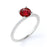 Solitaire 1 Carat Round Cut Ruby Engagement Ring in White Gold