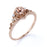Limited Time Sale 1.25 carat Morganite and Diamond Halo Engagement Ring