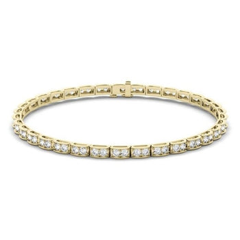 Affordable 2 Carat Diamond Tennis Bracelet in Yellow Gold
