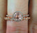 Limited Time Sale 1.50 Carat Morganite and Diamond Halo Wedding Ring Set for Women in 10k Rose Gold