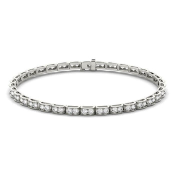 3 Carat Antique Diamond Tennis Bracelet for Her in White Gold