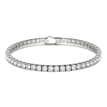5 carat 4 prong Round cut Diamond Tennis Bracelet for Her in White Gold