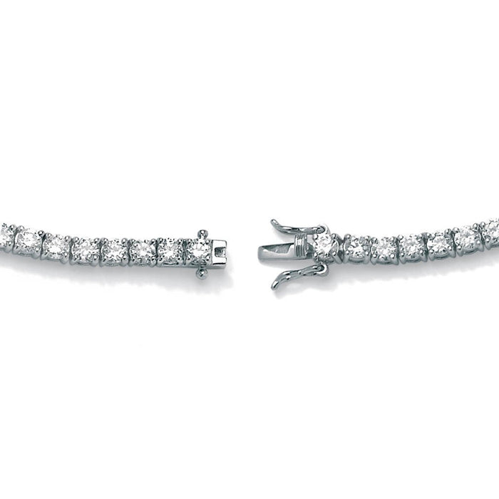 6 carat Round cut Diamond Tennis Bracelet 4 Prong Setting in White Gold