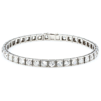 4 Carat Round cut Diamond Tennis Bracelet for Women in White Gold