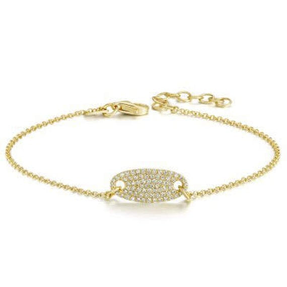.25 Carat Unique Affordable Round cut Diamond Bracelet for Women in Yellow Gold