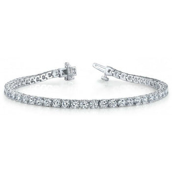 2 Carat Luxurious Round cut Diamond Tennis Bracelet on Sale for Women in White Gold