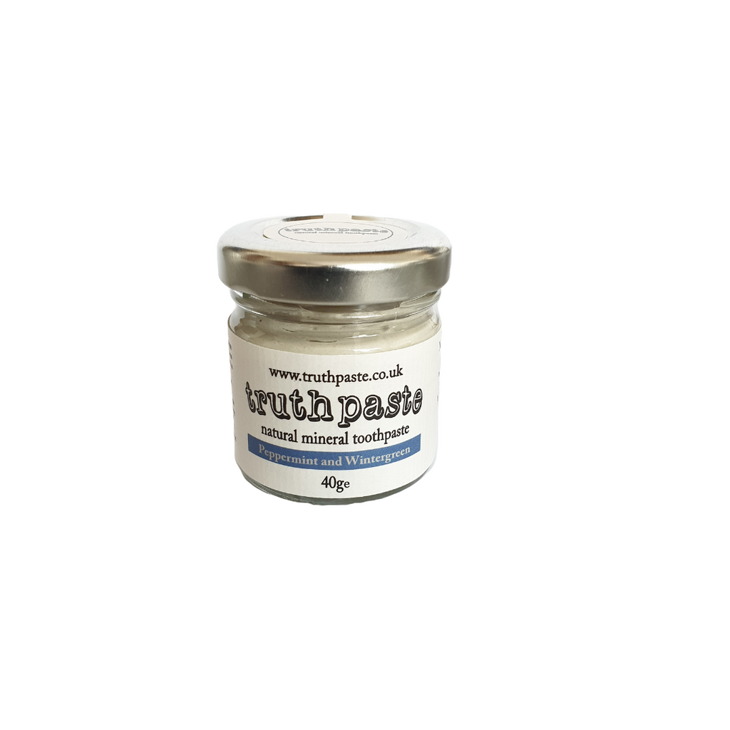 truthpaste natural toothpaste. Peppermint & Wintergreen 120g Zero waste toothpaste.