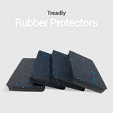 "4 Pack - Noise Reduction High Density Rubber Protectors  - 4.7"" x 3.1"" x 0.59"""