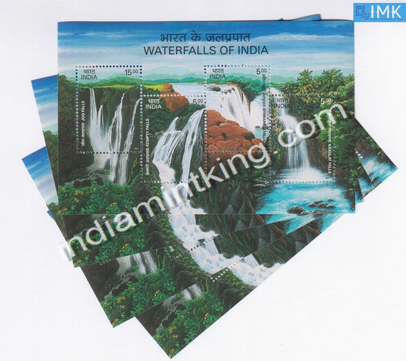 India 2003 Waterfalls Of India 4V MNH Miniature Sheet - buy online Indian stamps philately - myindiamint.com