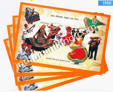 India 2010 Joint Issue Indo-Mexico MNH Miniature Sheet - buy online Indian stamps philately - myindiamint.com