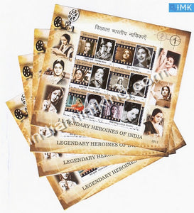 India 2011 Legendary Heroines Of India MNH Miniature Sheet - buy online Indian stamps philately - myindiamint.com