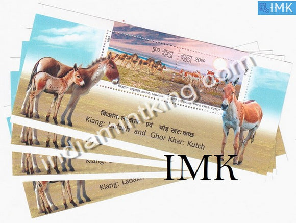 India 2013 Wild-Ass Ladakh & Kutch MNH Miniature Sheet - buy online Indian stamps philately - myindiamint.com