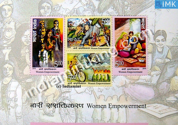 India 2015 Women Empowerment MNH Miniature Sheet - buy online Indian stamps philately - myindiamint.com