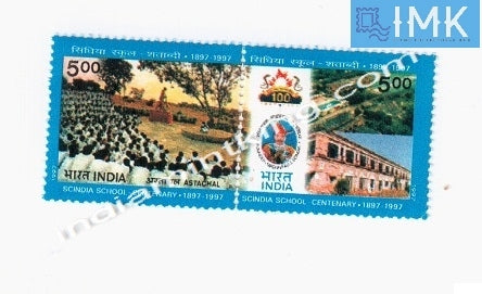 India MNH 1997 Scindia School   Setenant - buy online Indian stamps philately - myindiamint.com