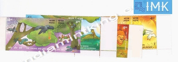 India MNH 2001 Panchatantra Stories (Set Of 4 Setenants)  Setenant - buy online Indian stamps philately - myindiamint.com