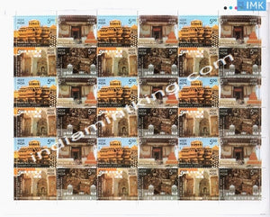 India MNH 2009 Preservation Of Heritage Monuments By Intach  Setenant (Full Sheet) - buy online Indian stamps philately - myindiamint.com