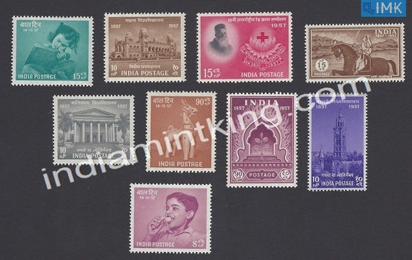 MNH India Complete Year Pack - 1957 - buy online Indian stamps philately - myindiamint.com