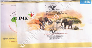 India 2011 2Nd Summit India-Africa (Miniature on FDC) #MSC 4 - buy online Indian stamps philately - myindiamint.com