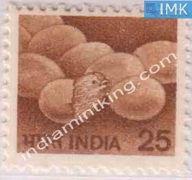 India MNH Definitive 6th Series Poultry 25p - buy online Indian stamps philately - myindiamint.com