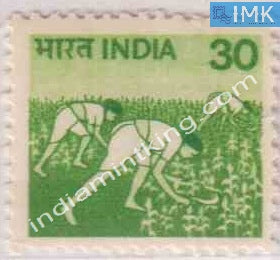 India MNH Definitive 6th Series Harvesting 30p - buy online Indian stamps philately - myindiamint.com