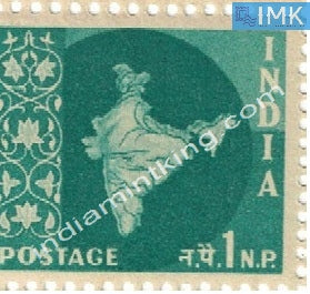 India MNH Definitive 3rd Series Map Wmk Ashokan 1np - buy online Indian stamps philately - myindiamint.com