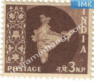 India MNH Definitive 3rd Series Map Wmk Ashokan 3np - buy online Indian stamps philately - myindiamint.com