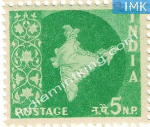 India MNH Definitive 3rd Series Map Wmk Ashokan 5np - buy online Indian stamps philately - myindiamint.com