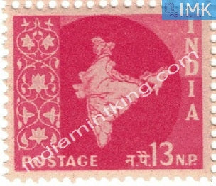 India MNH Definitive 3rd Series Map Wmk Ashokan 13np - buy online Indian stamps philately - myindiamint.com