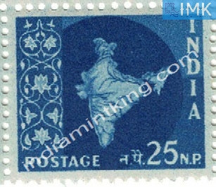 India MNH Definitive 3rd Series Map Wmk Ashokan 25np - buy online Indian stamps philately - myindiamint.com