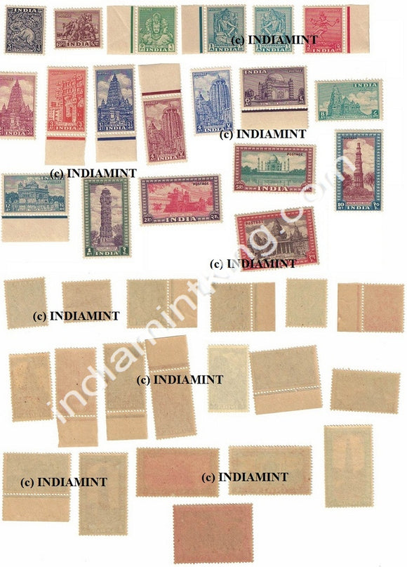 India MNH Definitive Complete Series Pack 1st Series 19V - buy online Indian stamps philately - myindiamint.com
