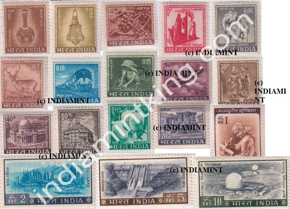 India MNH Definitive Complete Series Pack 4th Series 18V - buy online Indian stamps philately - myindiamint.com