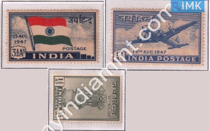 India 1947 MNH Independence Set Of 3 - buy online Indian stamps philately - myindiamint.com