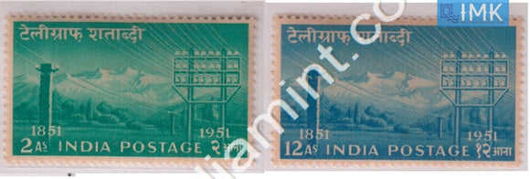 India 1953 Centenary Of Telegraph Set Of 2v - buy online Indian stamps philately - myindiamint.com