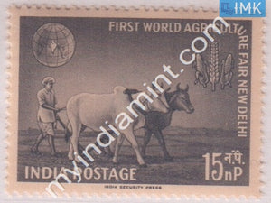 India 1959 MNH  World Agriculture Fair (Farmer With Bullocks) - buy online Indian stamps philately - myindiamint.com
