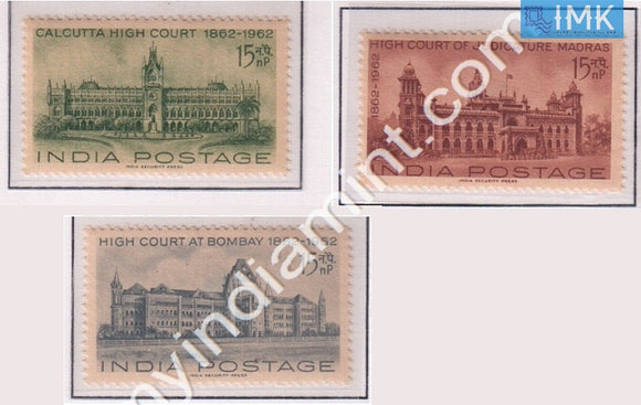 India 1962 MNH Centenary Of High Courts Set Of 3v - buy online Indian stamps philately - myindiamint.com