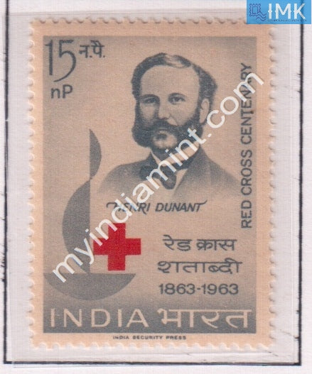 India 1963 MNH Henry Dunant Red Cross Centenary - buy online Indian stamps philately - myindiamint.com