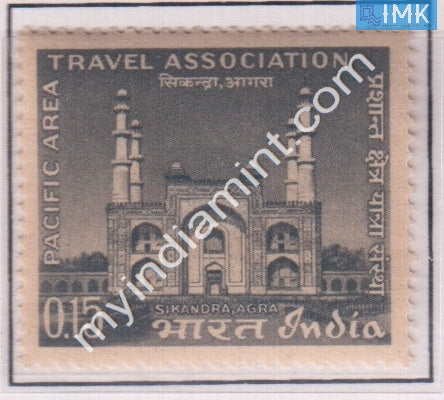 India 1966 MNH Pacific Area Travel Association (Akhbar's Mausoleum) - buy online Indian stamps philately - myindiamint.com