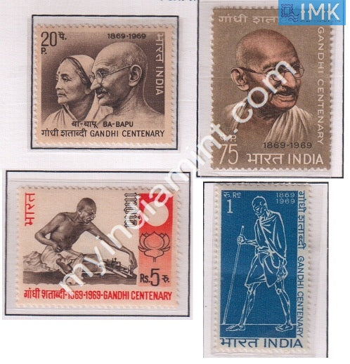 India 1969 MNH Mahatma Gandhi Birth Centenary Set Of 4v - buy online Indian stamps philately - myindiamint.com