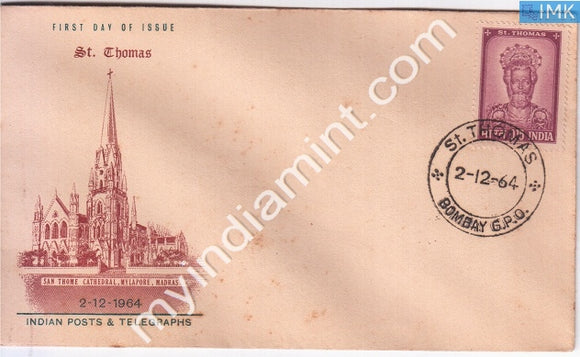 India 1964 FDC St. Thomas (Apostle) (FDC) - buy online Indian stamps philately - myindiamint.com