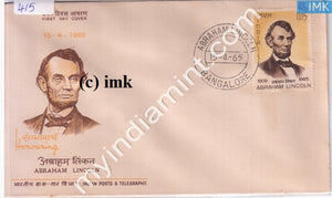 India 1965 FDC Abrahim Lincoln (FDC) - buy online Indian stamps philately - myindiamint.com