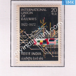 India 1972 MNH International Union Of Railways - buy online Indian stamps philately - myindiamint.com