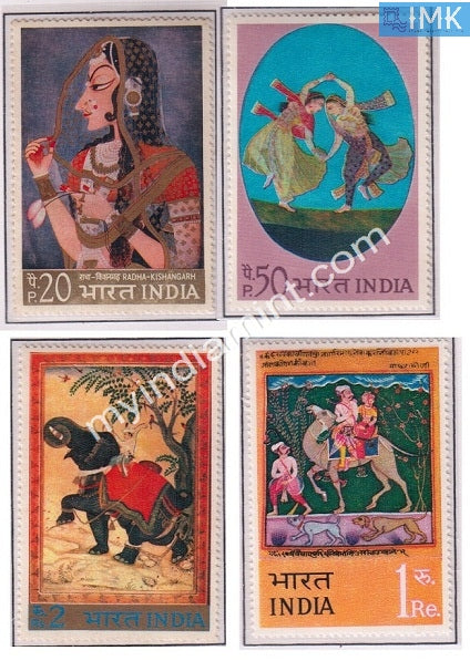 India 1973 MNH Indian Miniature Paintings 4V Set - buy online Indian stamps philately - myindiamint.com