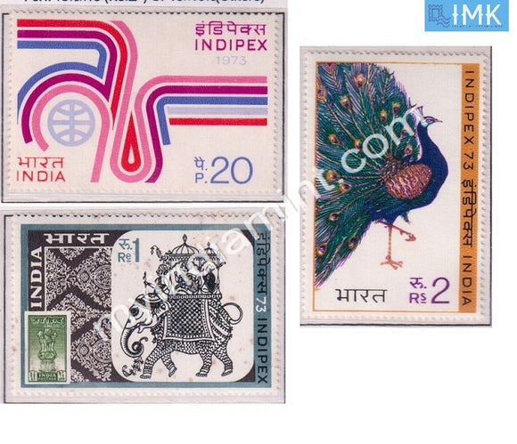 India 1973 MNH Indipex-73 Exhibition 3V Set - buy online Indian stamps philately - myindiamint.com