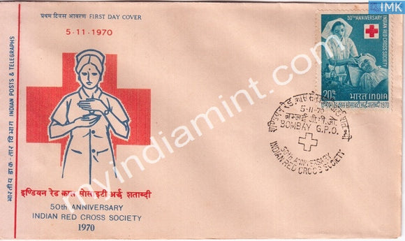 India 1970 Indian Red Cross Society (FDC) - buy online Indian stamps philately - myindiamint.com