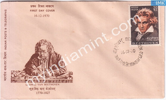 India 1970 Ludwig Van Beethoven (FDC) - buy online Indian stamps philately - myindiamint.com