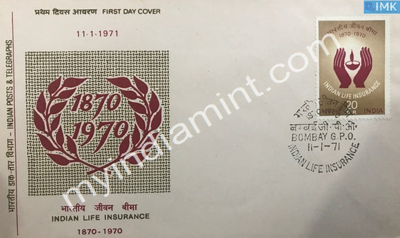 India 1971 Indian Life Insurance (FDC) - buy online Indian stamps philately - myindiamint.com