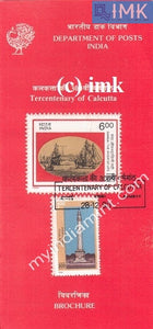India 1990 Calcutta Tricentenary Set Of 2v (Cancelled Brochure) - buy online Indian stamps philately - myindiamint.com